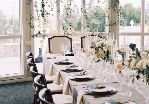 <p>Reception tablescape</p>
