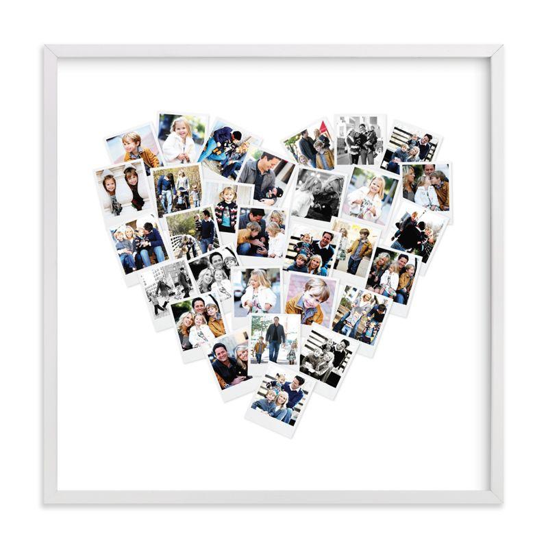 minted heart photo print