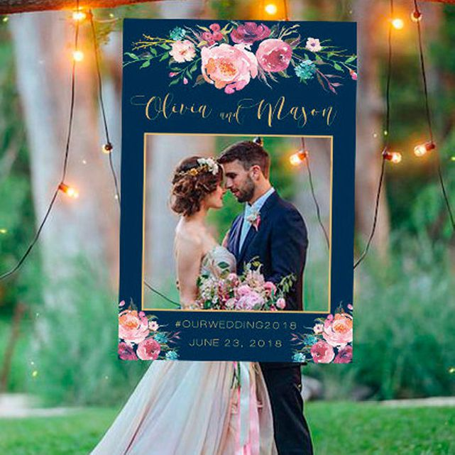 Etsy Wedding Photo Booth Frame in Navy