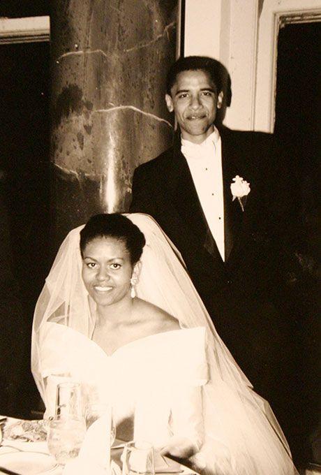 Michelle Robinson marries Barack Obama, 1992