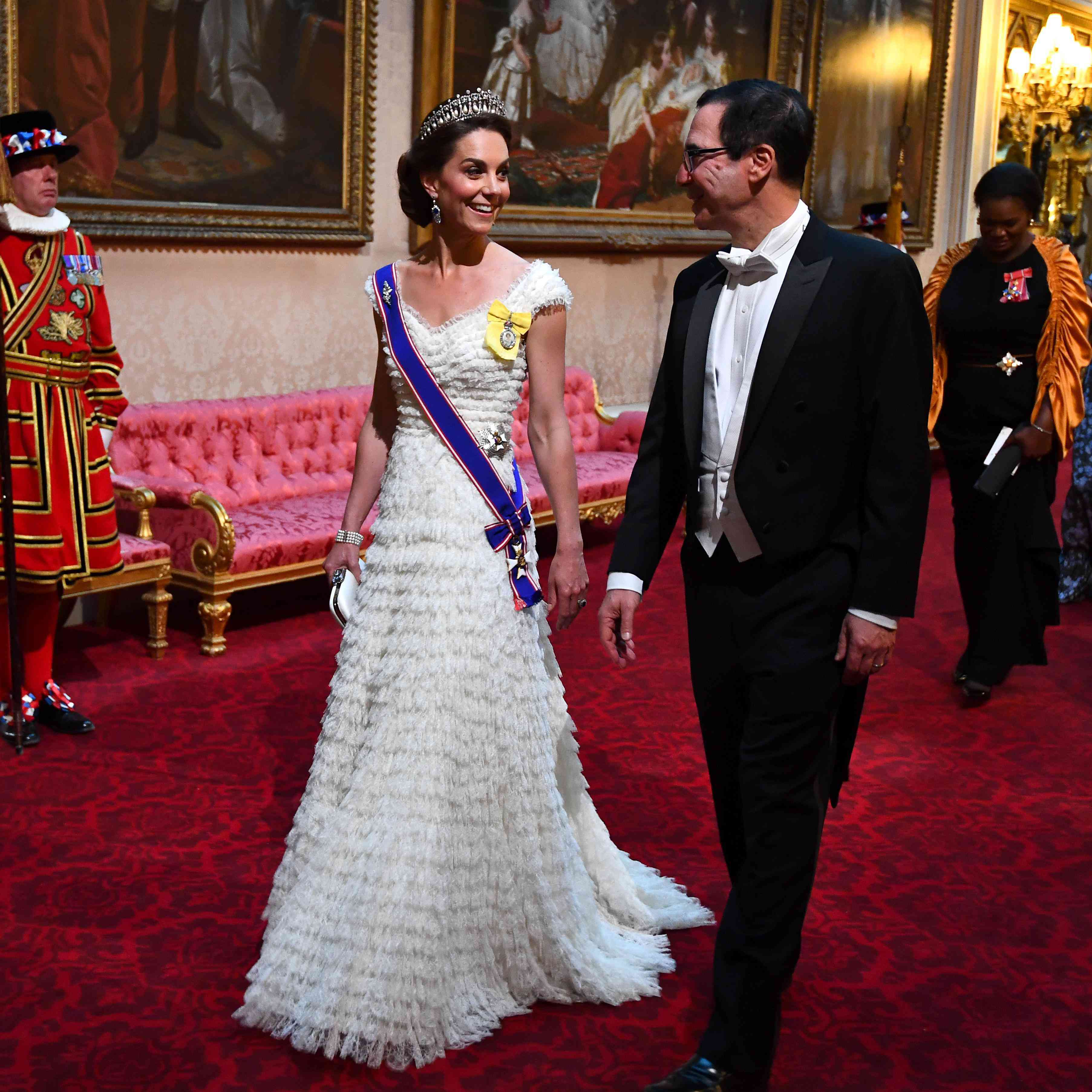798a84d2eadf5 Kate Middleton Stuns in Princess Diana's Tiara and a White Bridal ...