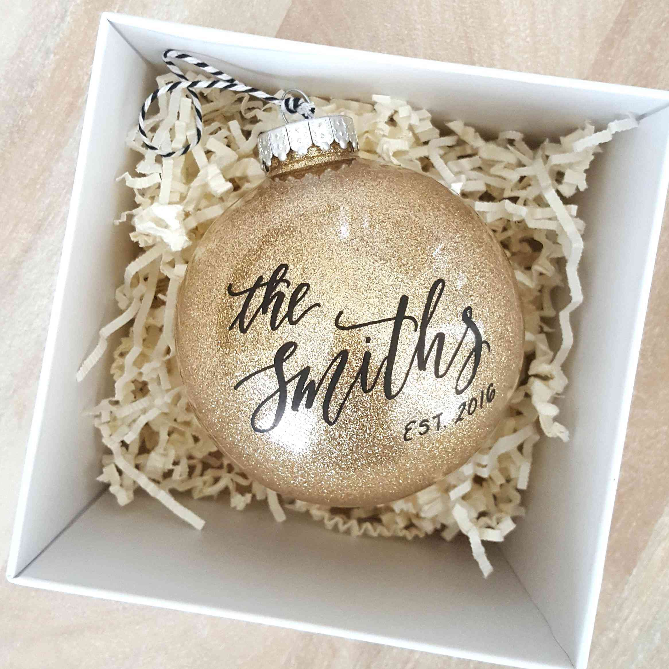25 Newlywed And Newly Engaged Christmas Ornaments That Are As