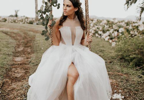 <p>bride on swing</p>
