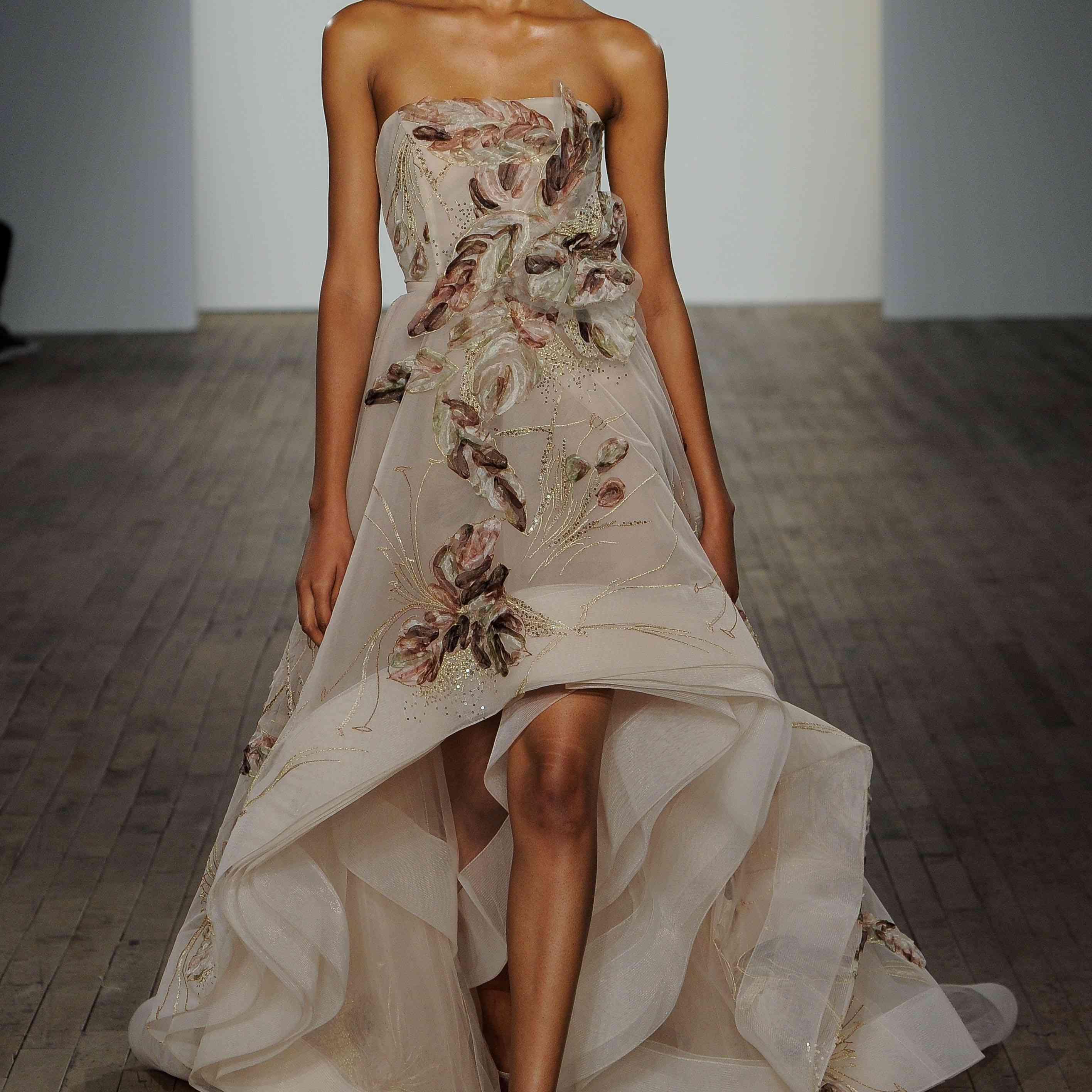 Liliana high-low wedding dress lazaro