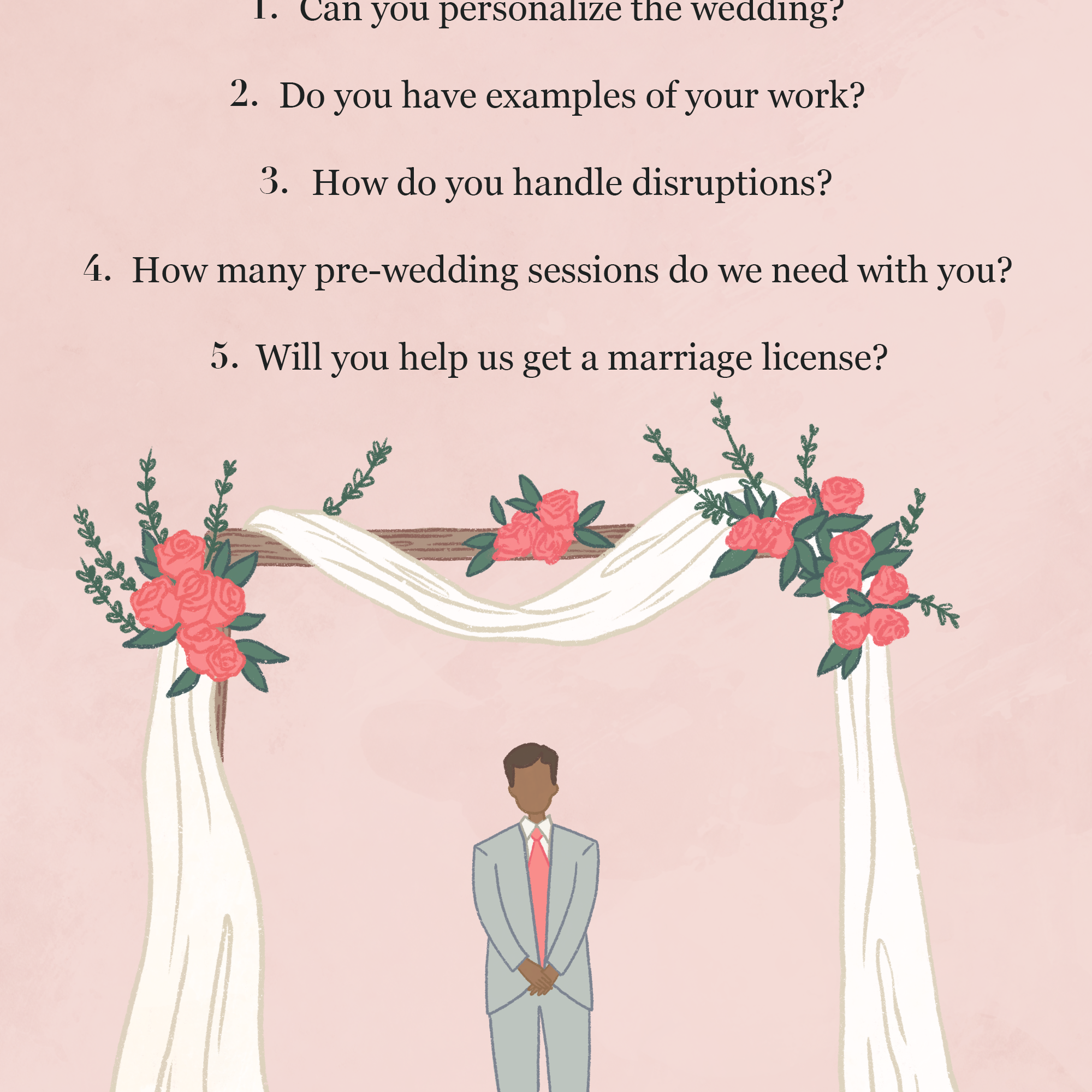 6 Things To Ask Your Wedding Officiant BEFORE Booking