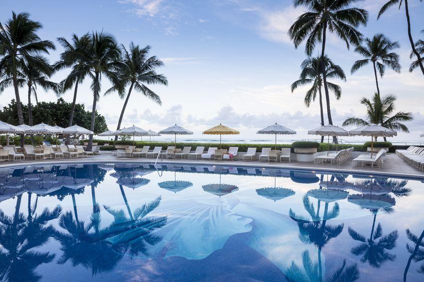 The pool at Oahu's Halekulani resort