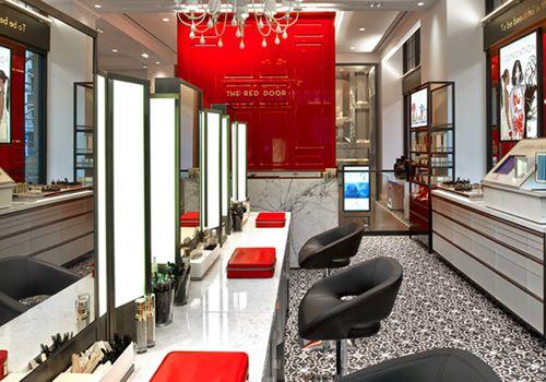 Interior of The Red Door beauty bar