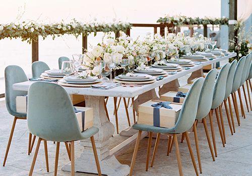 Intimate wedding reception table