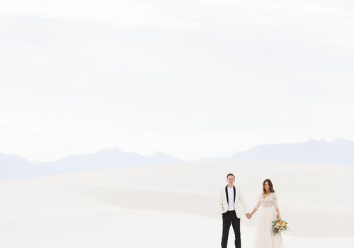 Bride and Groom in New Mexico Desert