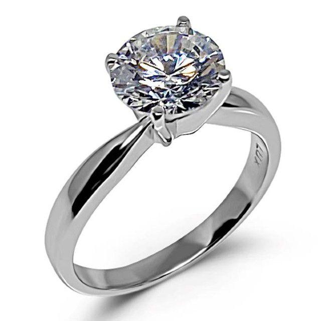 solitaire fake diamond ring