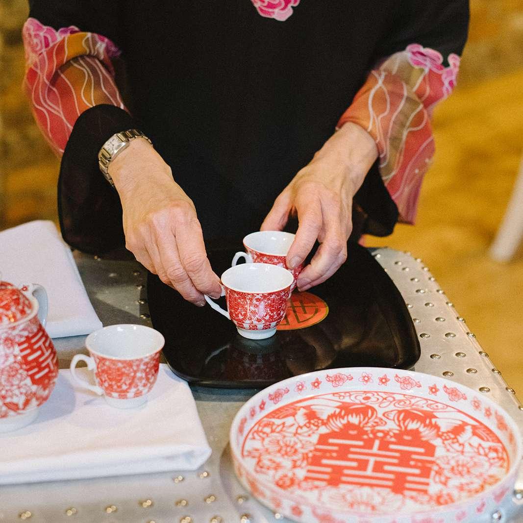 Tea ceremony detail