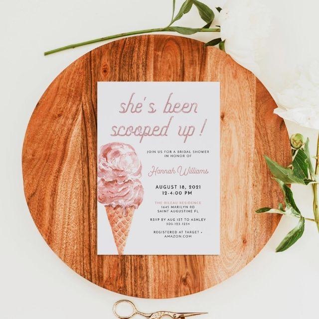 UnmeasuredEvent Ice Cream Bridal Shower Invitation