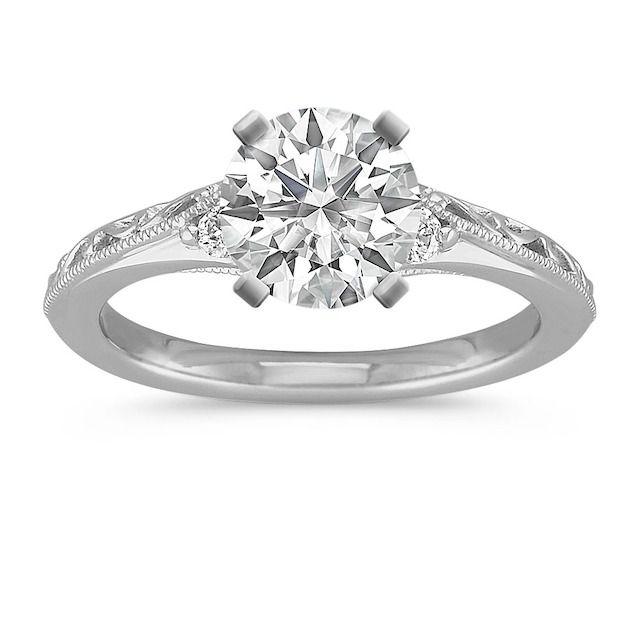 Shane Co. Vintage Diamond Engagement Ring in Platinum