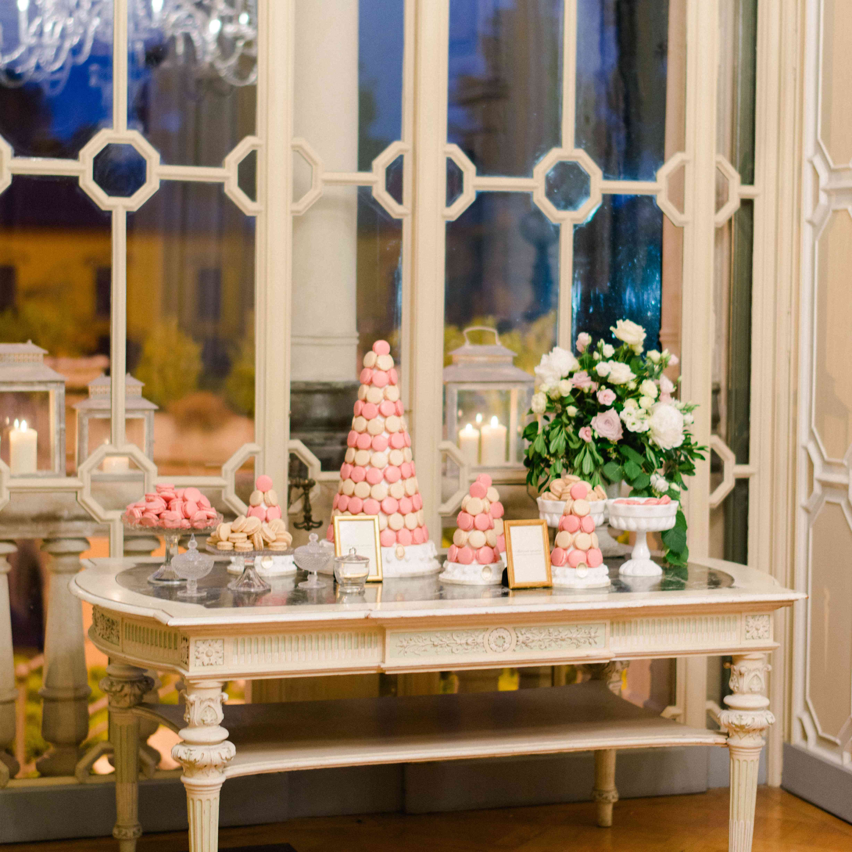 Northern Italian Wedding, Macaron Dessert Table