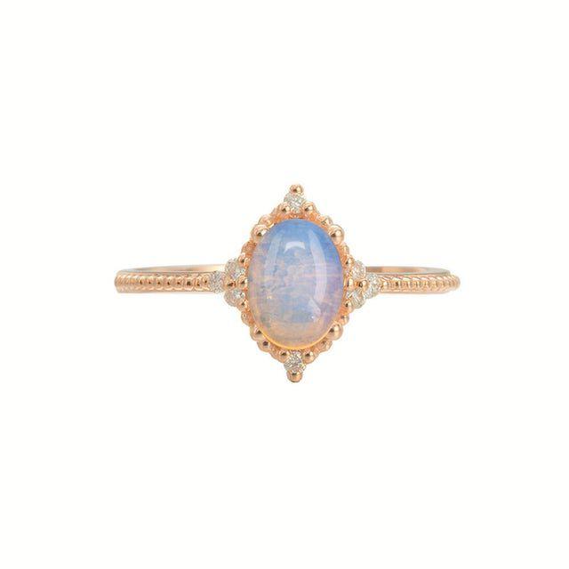 Opal Wedding Rings Diamond Opal Engagement Ring
