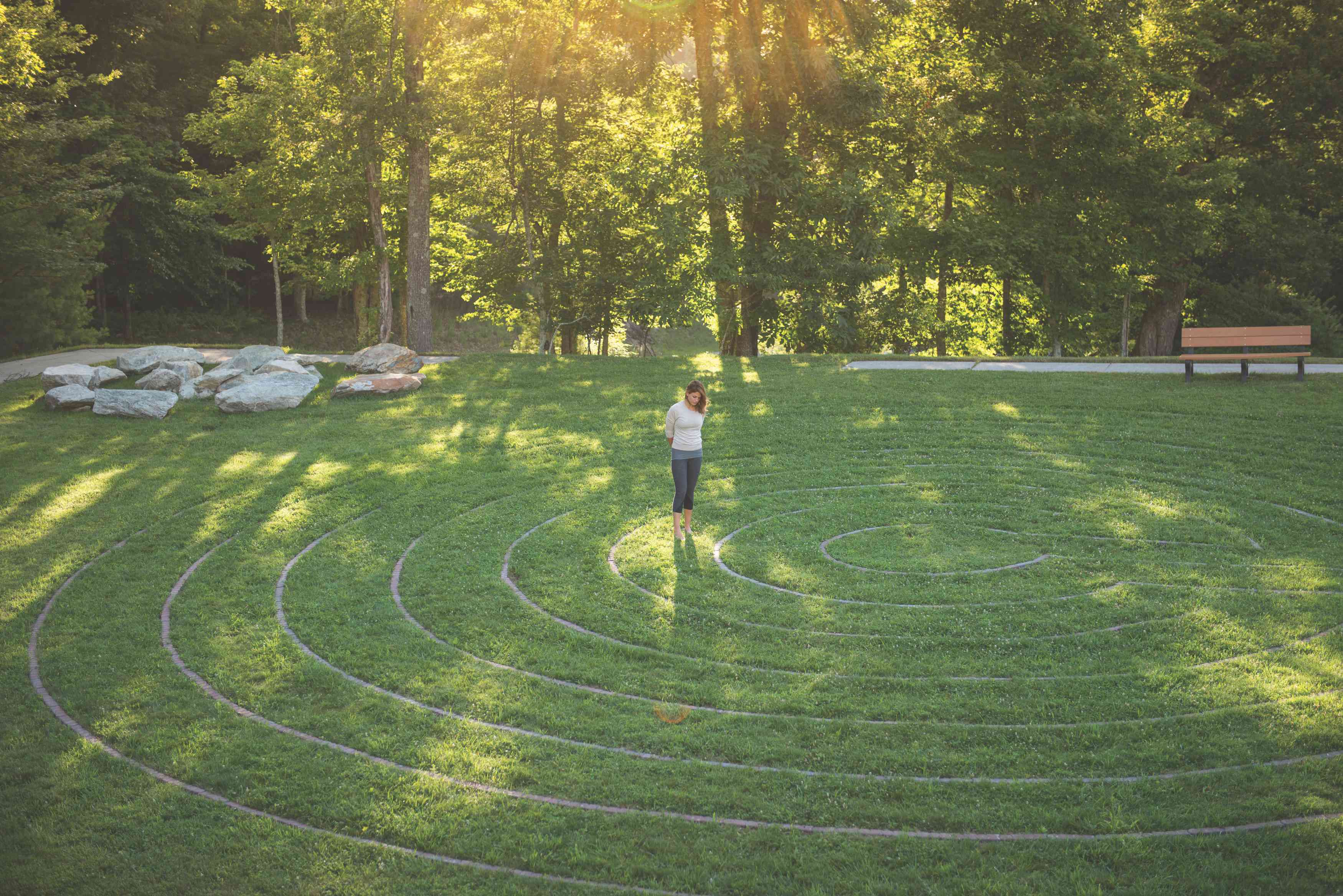 Labyrinth at the Art of Living Retreat