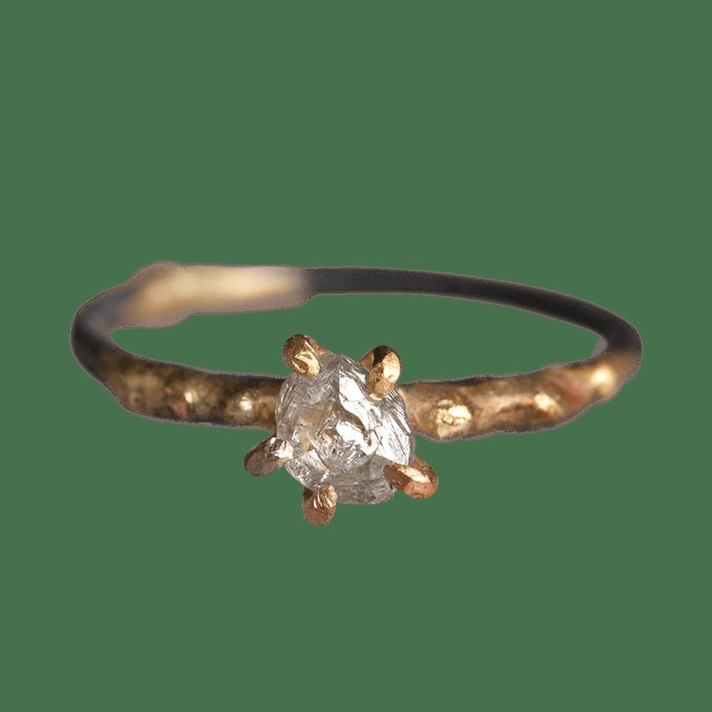Variance Salt and Pepper .4CT Rough Carat Diamond Ring