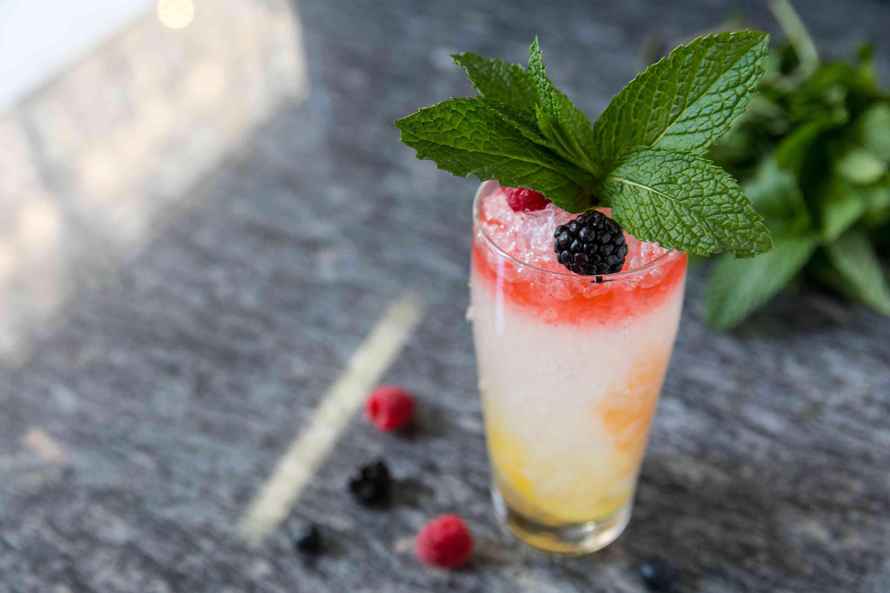 Union Fare Champagne Cobbler Cocktail