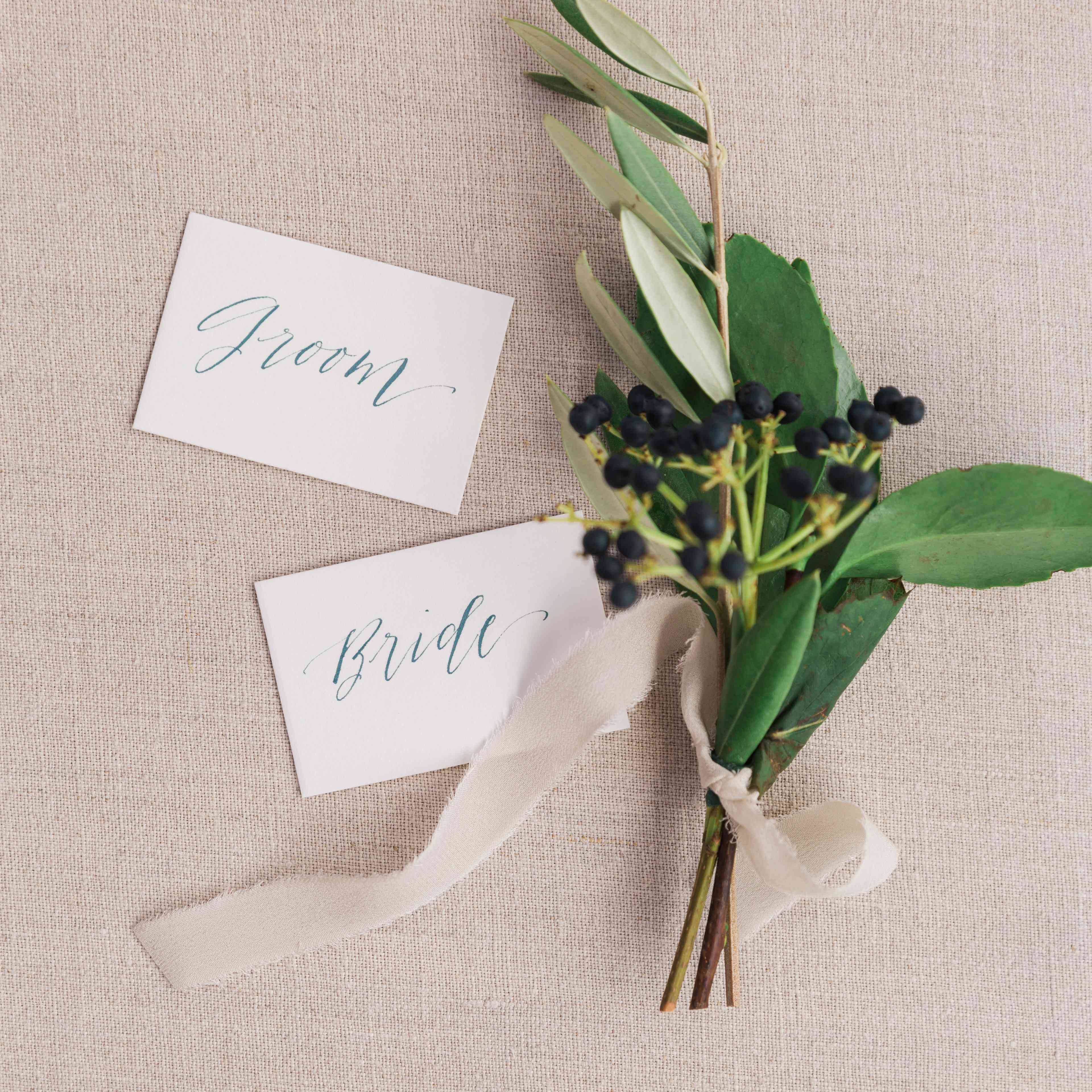 Olive Leaves and Mock Privet Berry Boutonniere