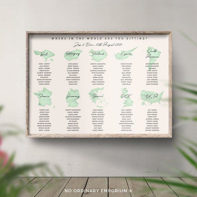 Country Wedding Seating Chart