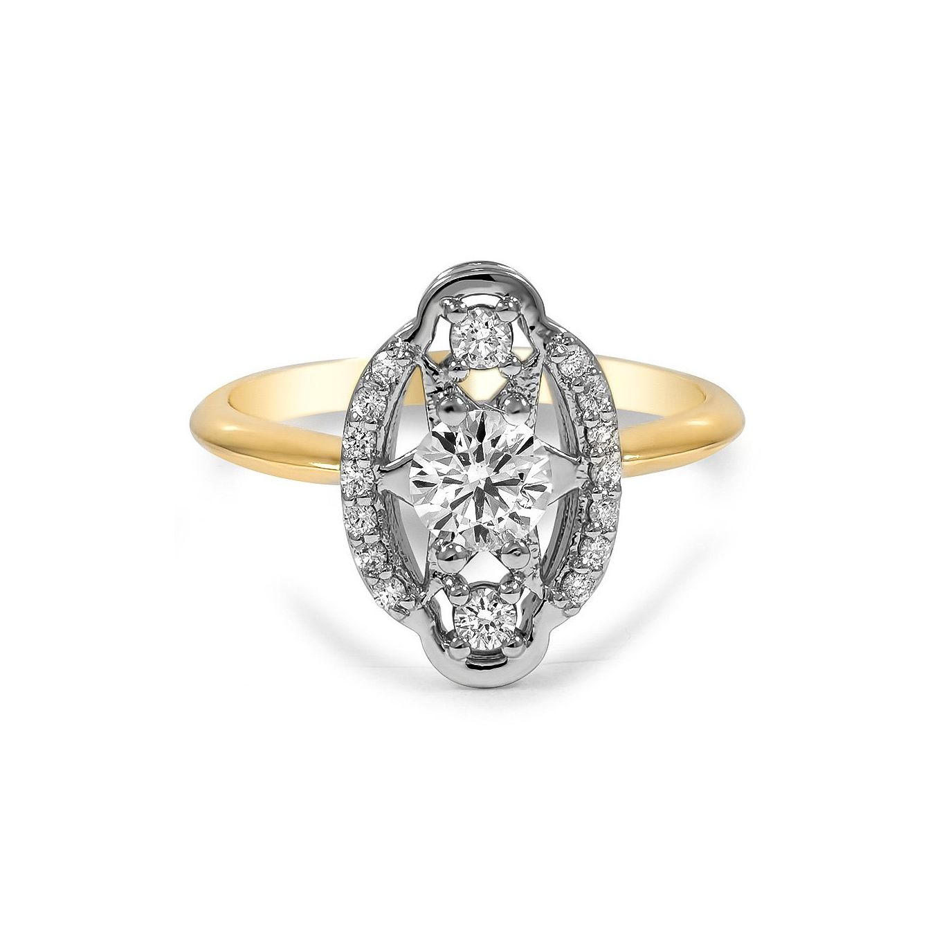 41 Mixed Metal Engagement Rings To Break The Rules