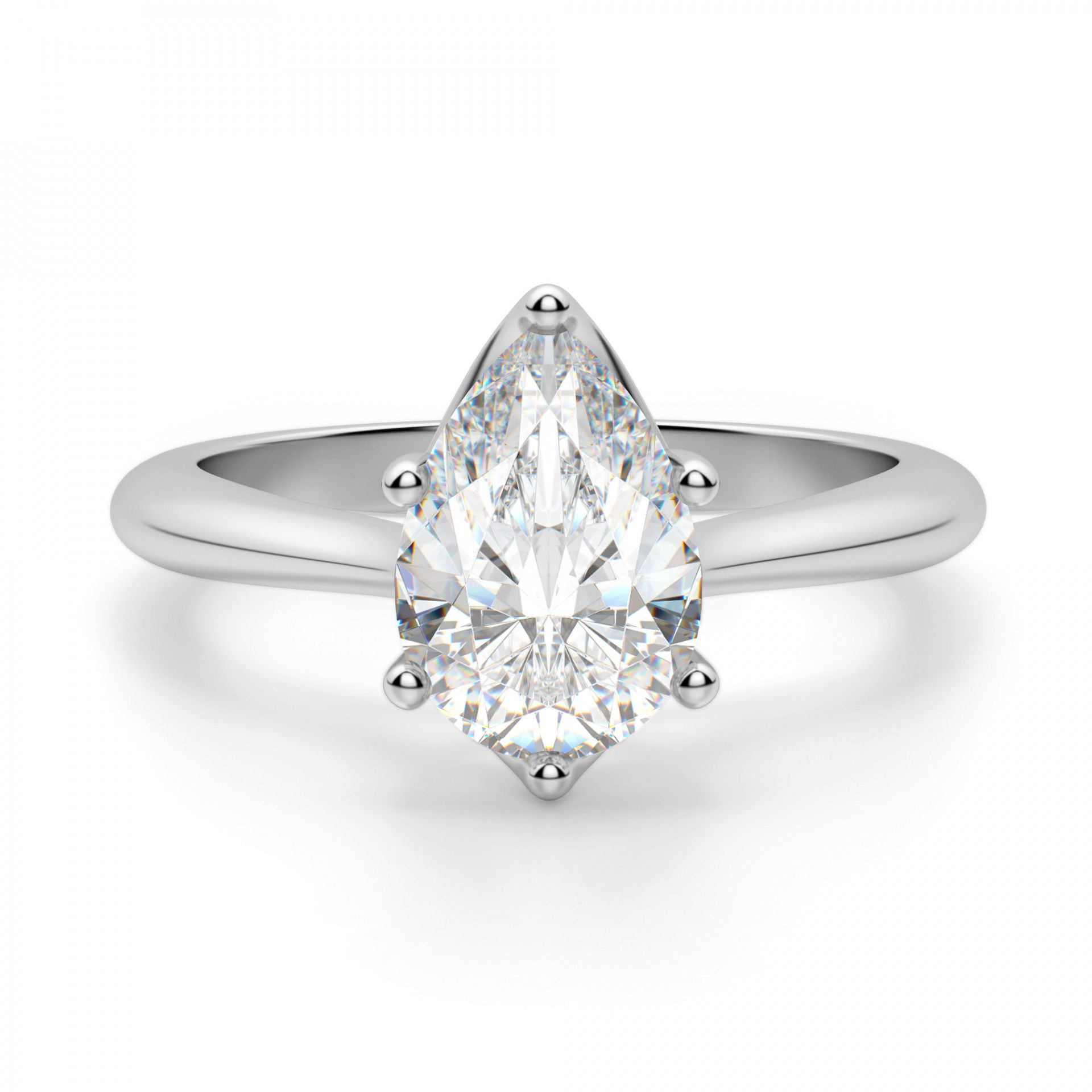 Diamond Nexus Bali Classic Pear Cut Engagement Ring