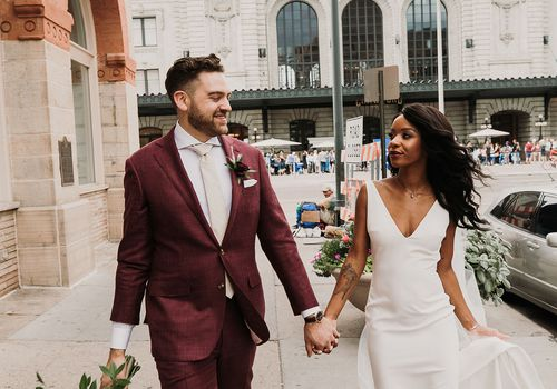 Jacqueline Fitzpatrick and Dylan Unger were married in Denver, Colorado.