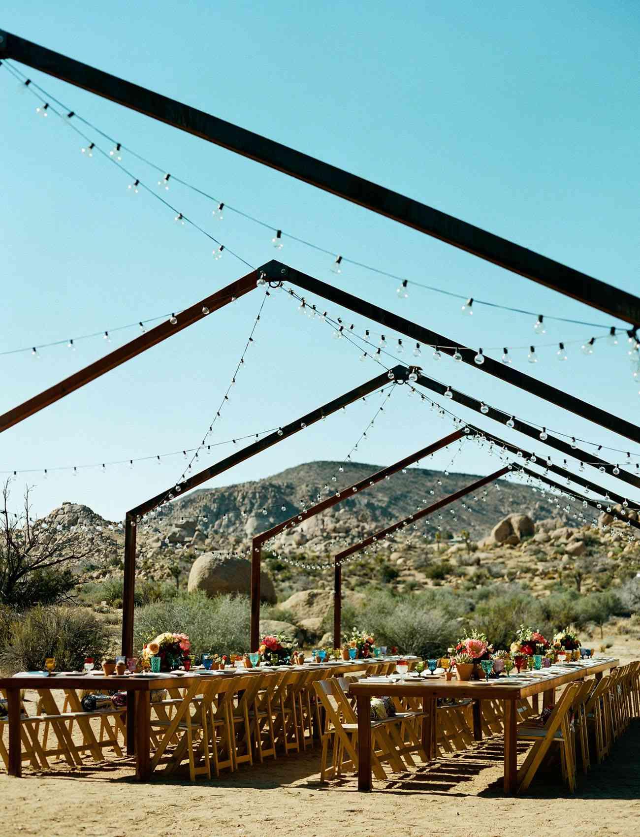 Outdoor Wedding Reception in a Desert
