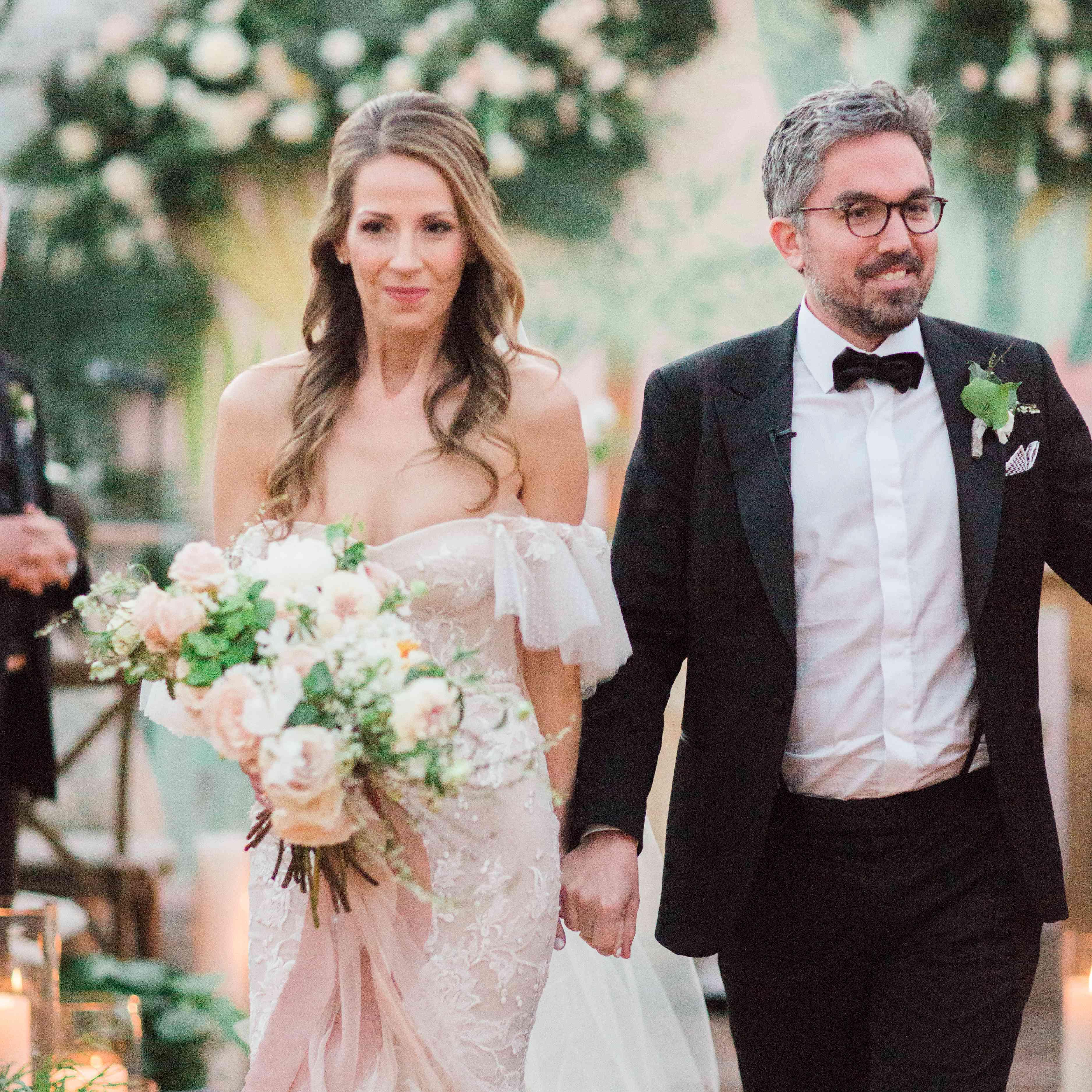 <p>wedding recessional bride and groom</p><br><br>