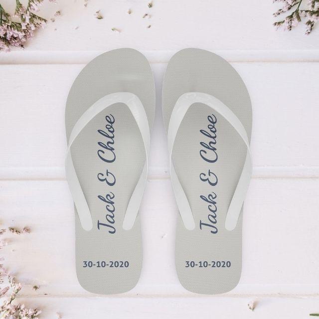 Favourgram Custom Wedding Flip Flops