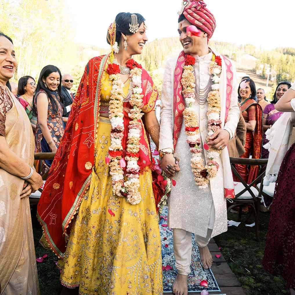 newlyweds leaving ceremony