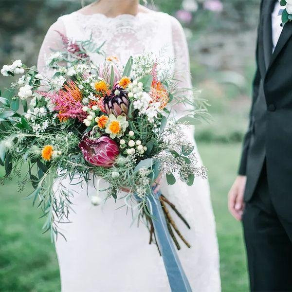 long stem wildflower bouquet