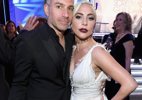 Christian Carino and Lady Gaga attend the 25th Annual Screen Actors Guild Awards