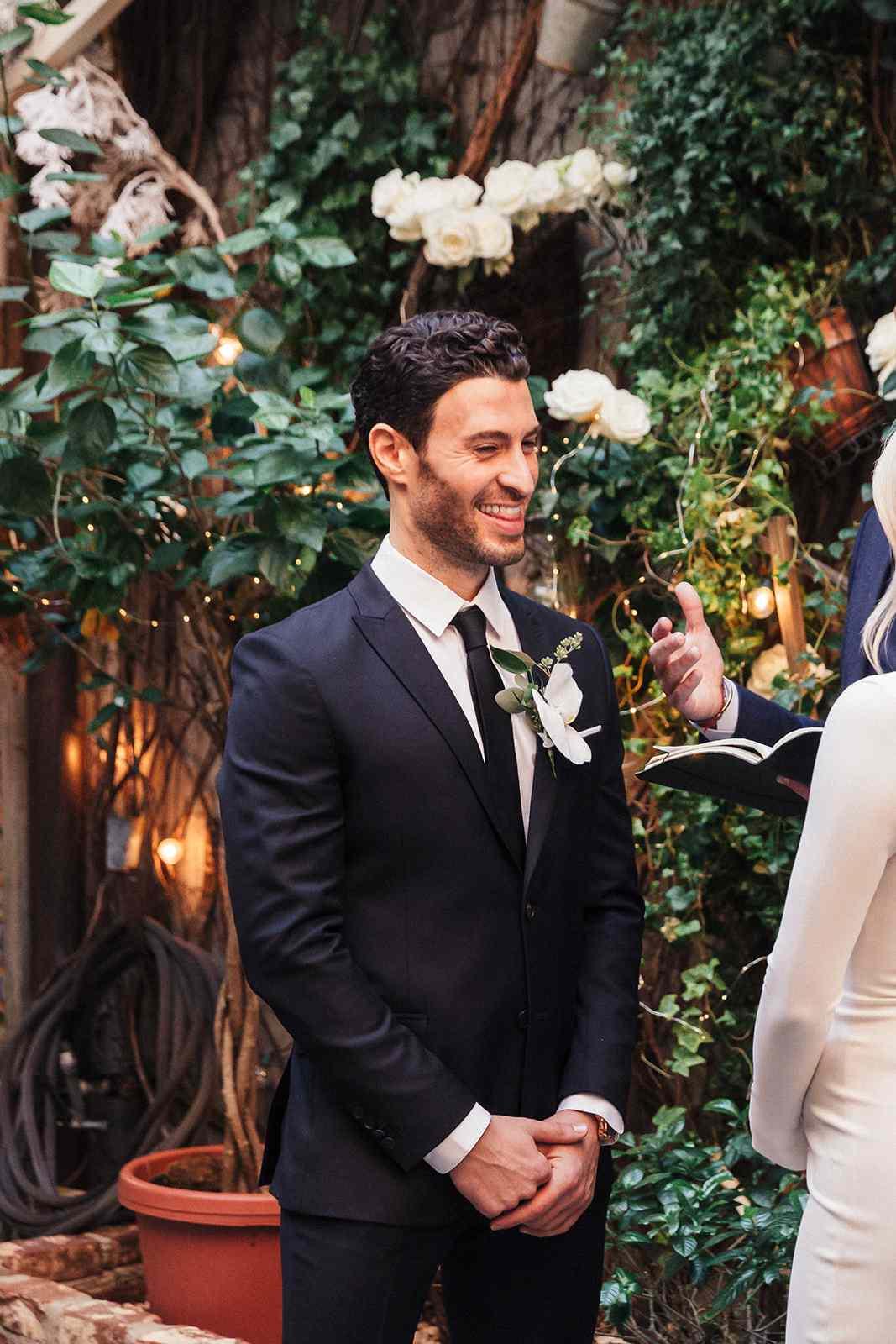 groom at ceremony