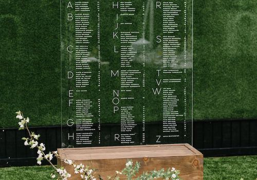 lucite seating chart