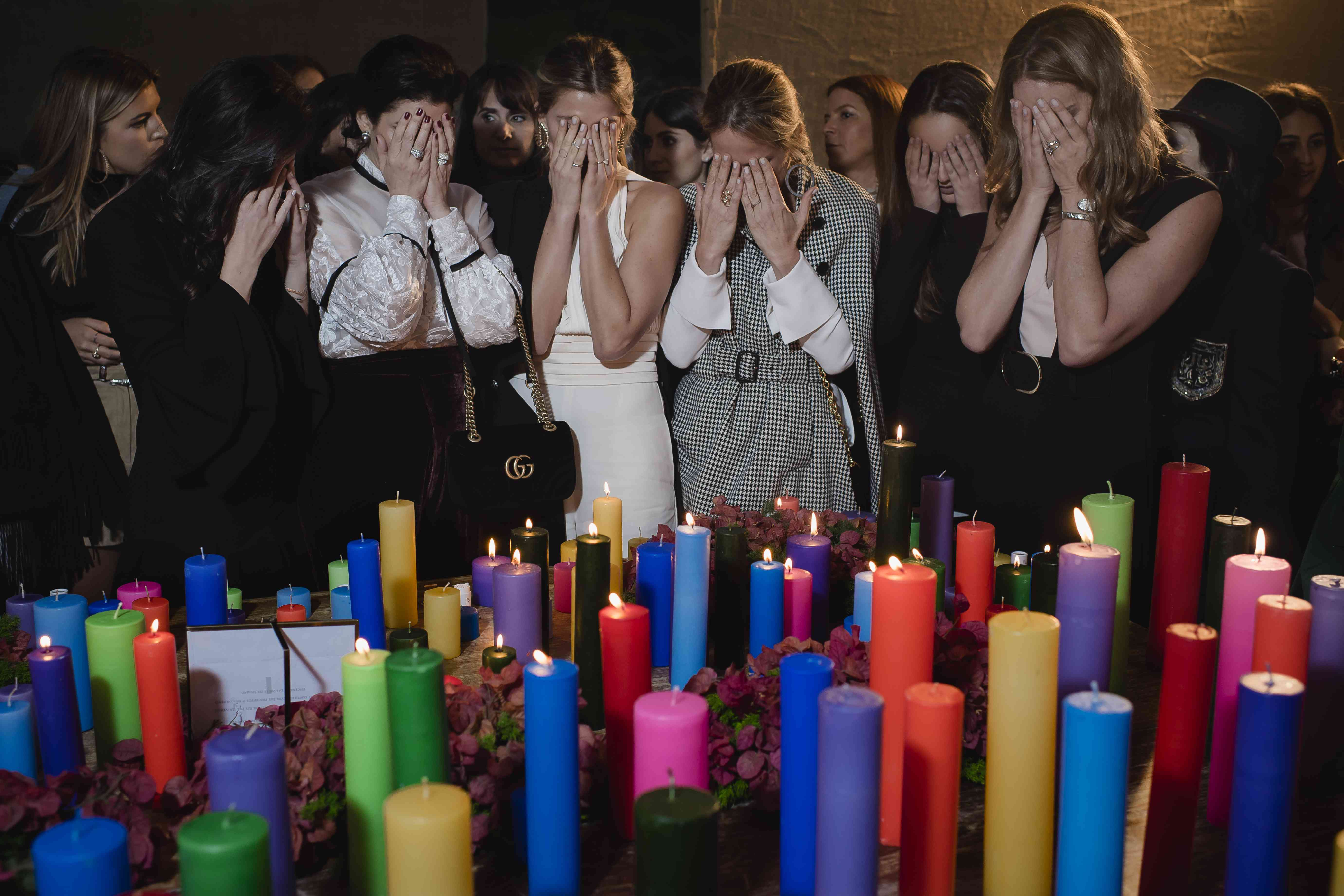 <p>Bride and Friends with candles</p><br><br>