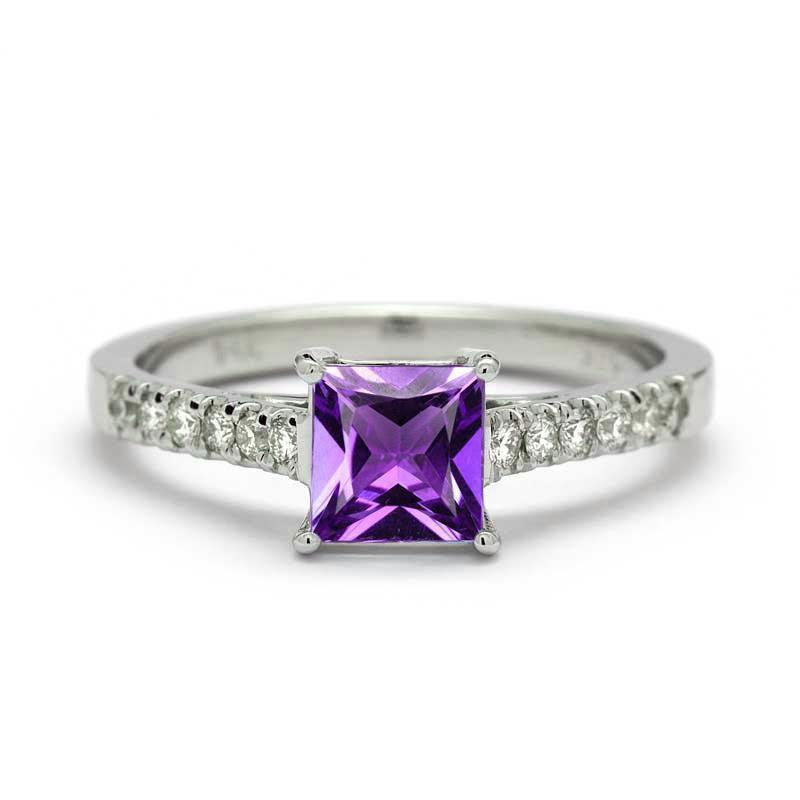 Nayla Amethyst Engagement Ring