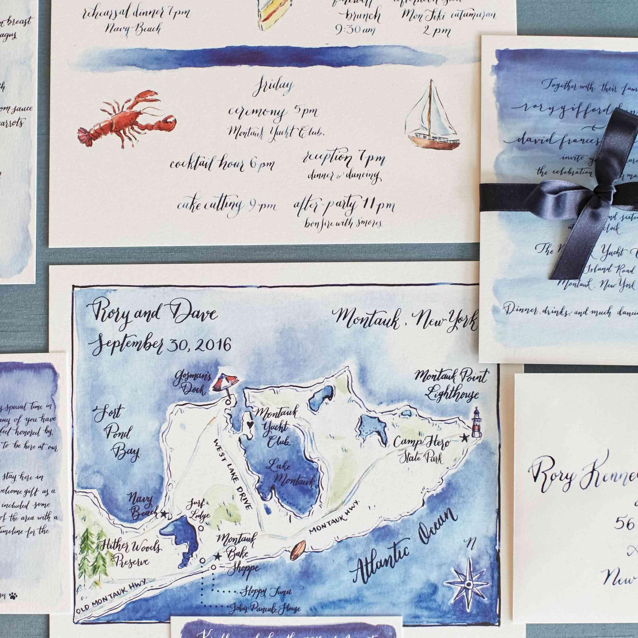<p>Nautical Invitation Suite</p><br><br>
