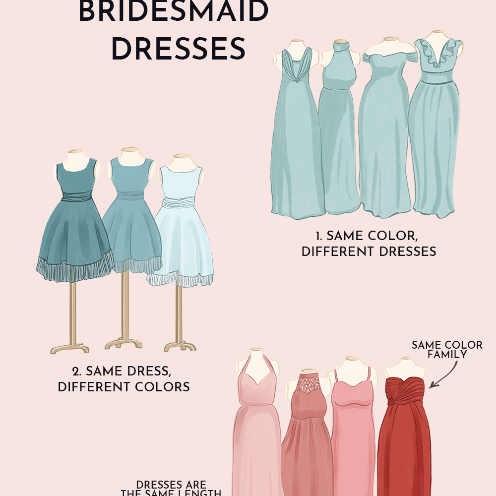 3 Ways to Pull Off Mismatched Bridesmaids Dresses