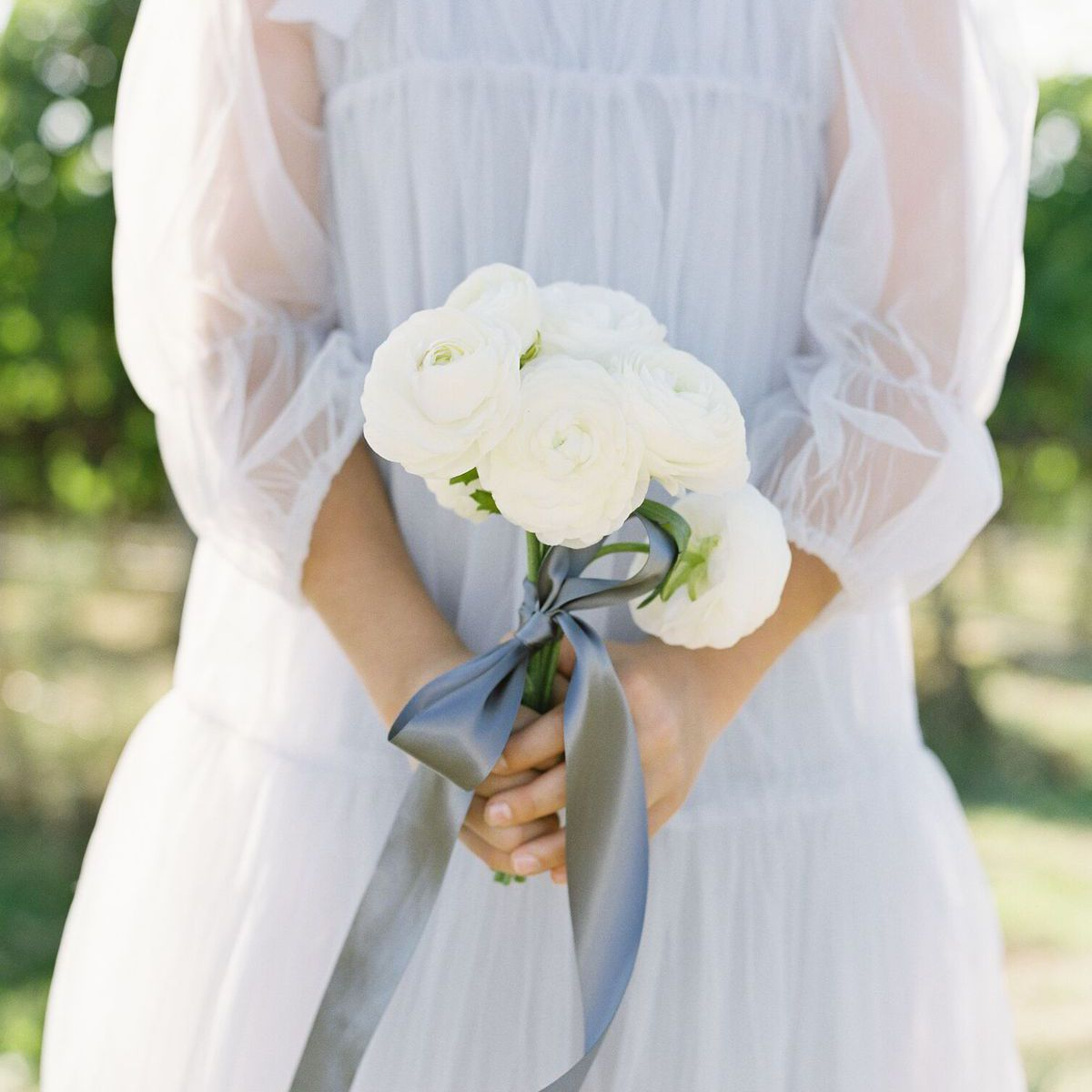 ranunculus posy wedding bouquet