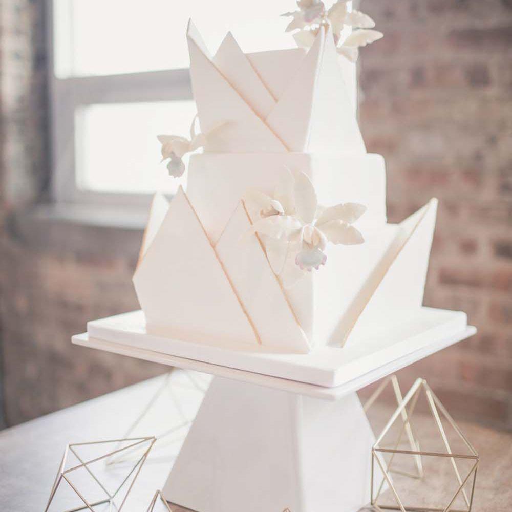 Geometric square cake
