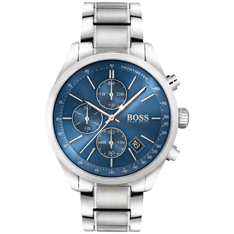 Hugo Boss Men's Chronograph Grand Prix Stainless Steel Bracelet Watch