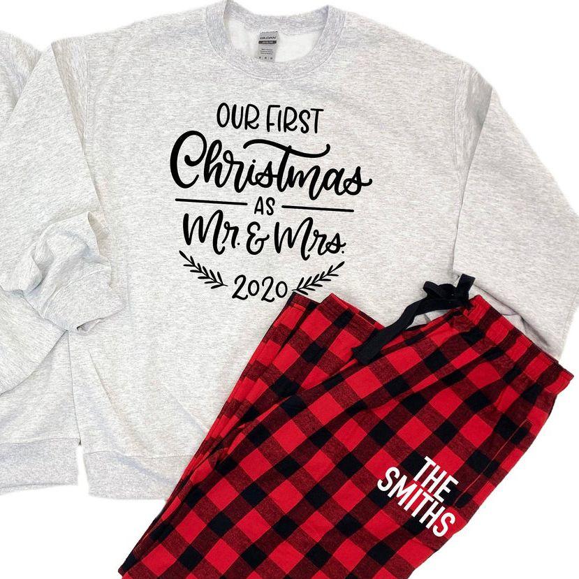 sweatshirt flannel set