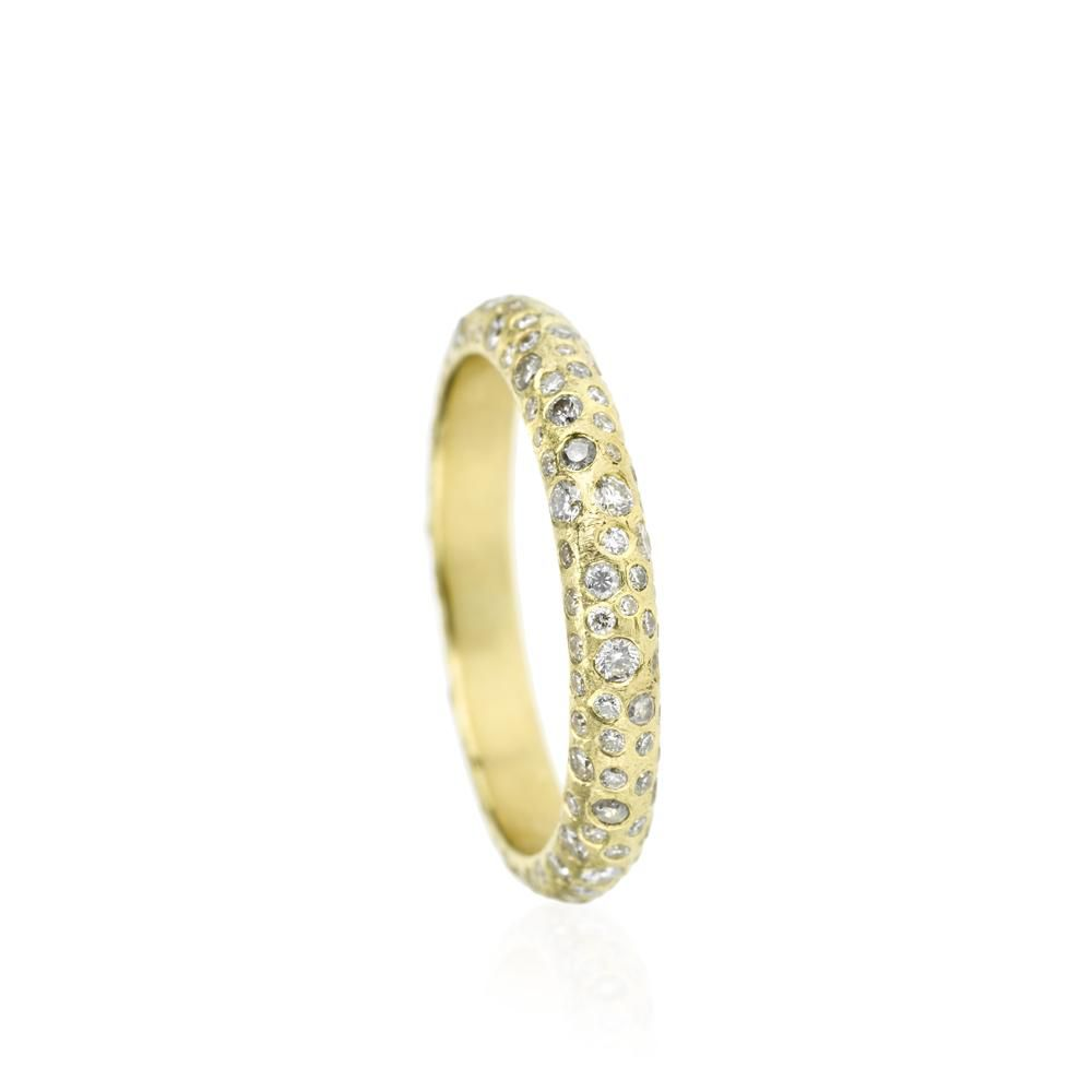 Todd Reed Yellow Gold Pavé Eternity Band