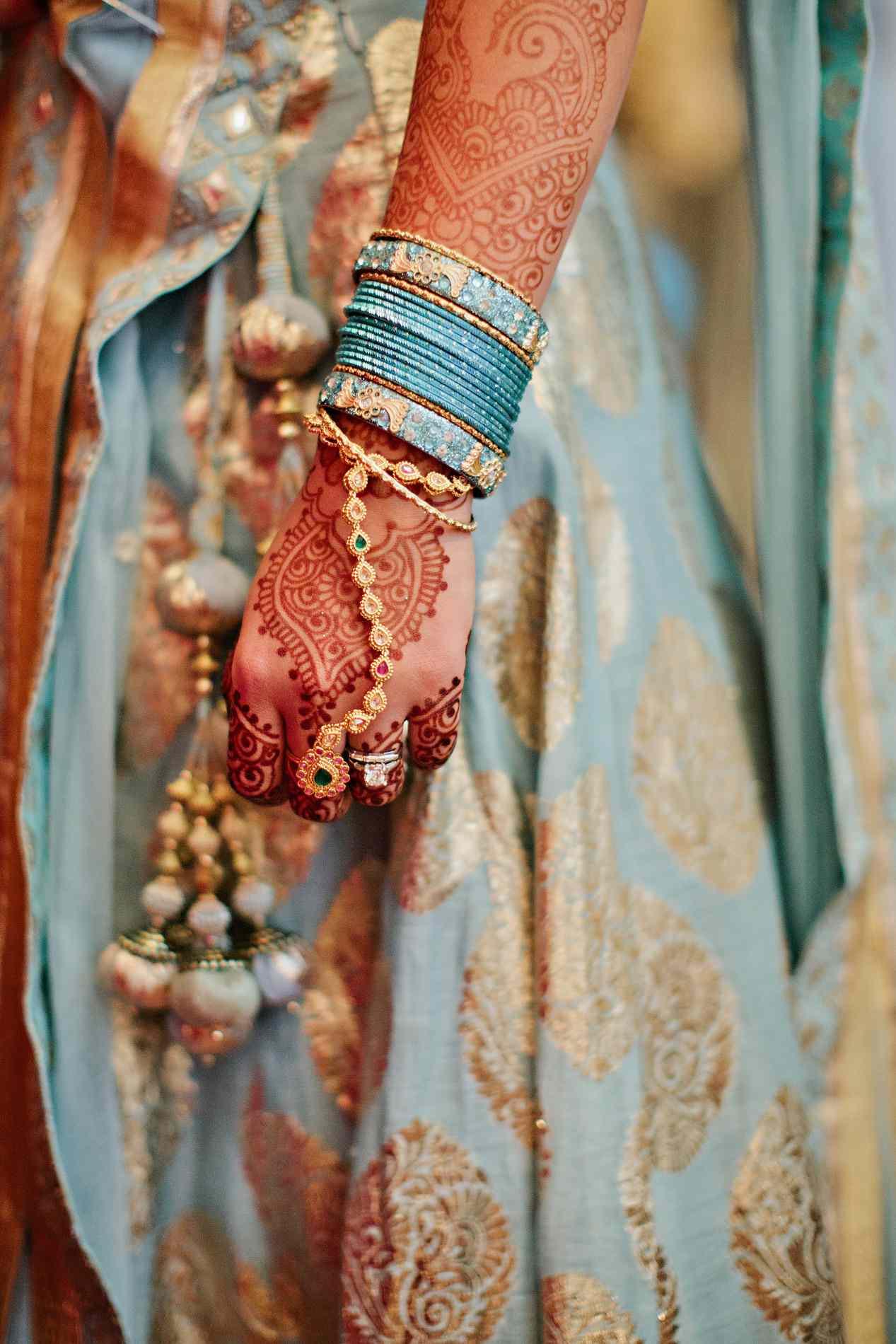 Bride's hand close-up