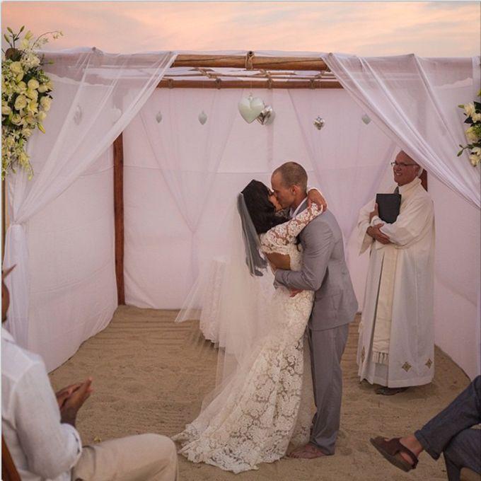 Naya Rivera marries Ryan Dorsey in Monique Lhuillier, 2014