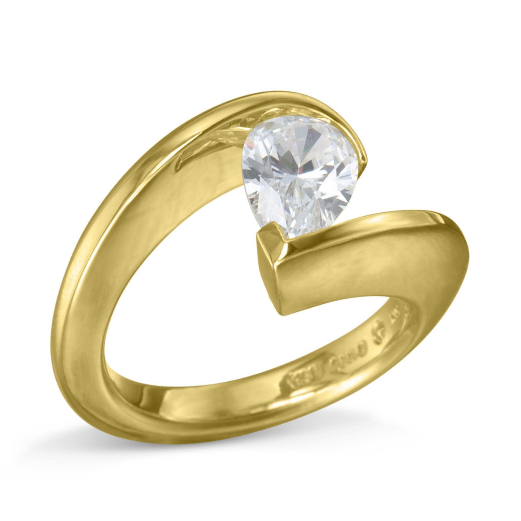 Turgeon Raine Pear Shaped Diamond Tension Set Ring