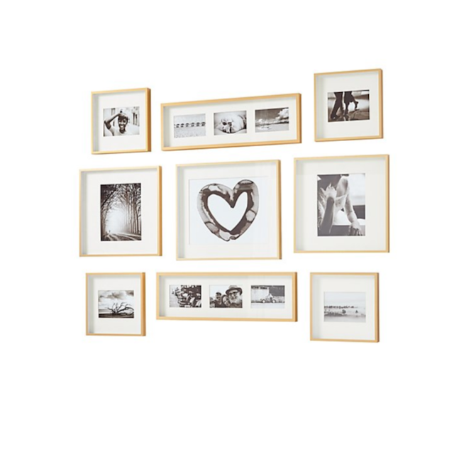 Brushed Brass Picture Frame Gallery Set