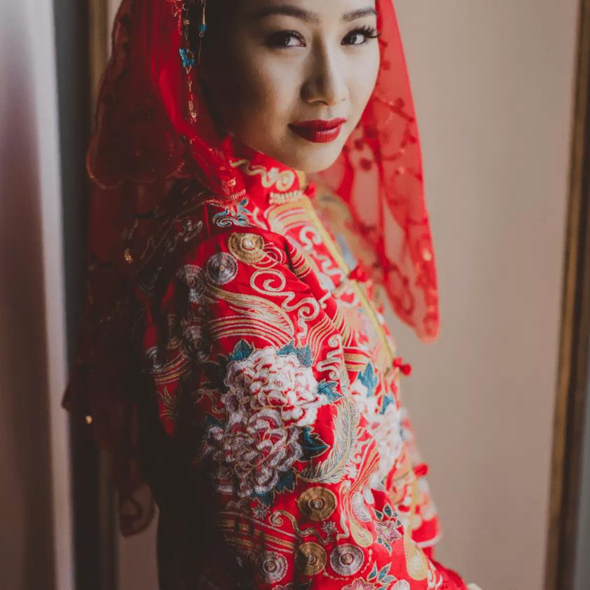 Chinese woman at wedding