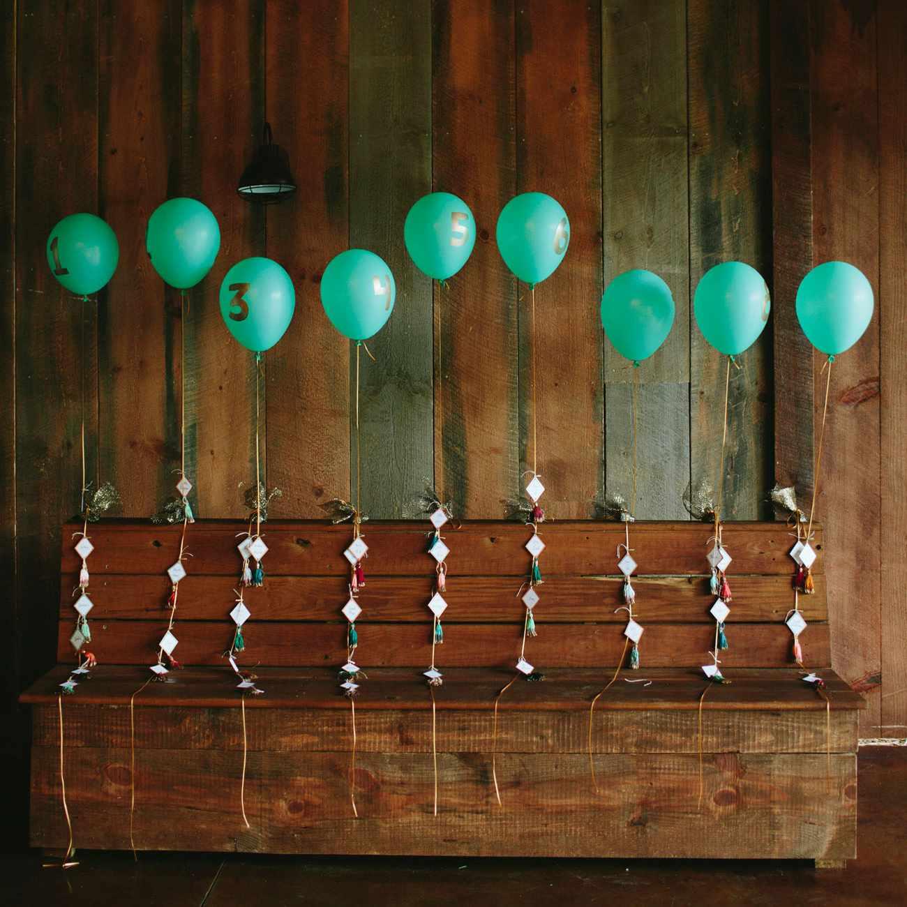 Balloon seating chart
